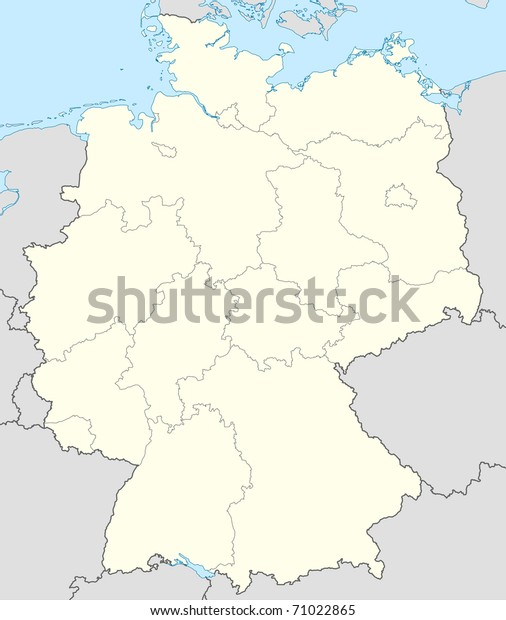 Country Of Germany Map.Illustrated Map Country Germany Europe Stock Illustration 71022865