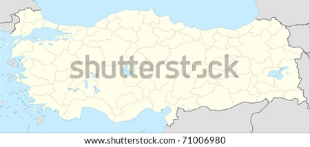 Turkey On Europe Map.Royalty Free Stock Illustration Of Illustrated Map Country Turkey