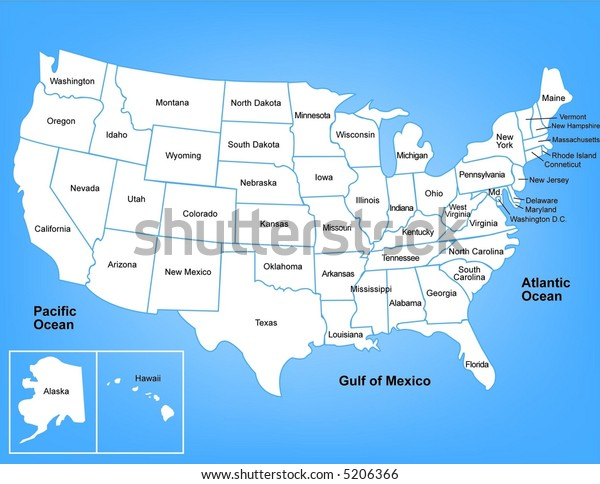 Illustrated map of the United States
