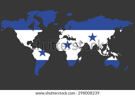 Illustrated map world flag honduras stock illustration 298008239 an illustrated map of the world with the flag of honduras gumiabroncs Gallery