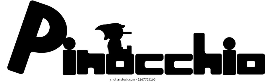 illustrated pinocchio logo