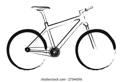 Illustrated simple bike