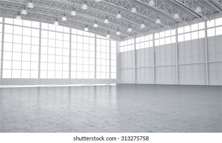 Illustrated warehouse