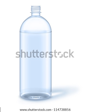 323f650a54 Illustrated Water Bottle No Label Stock Illustration 114738856 ...