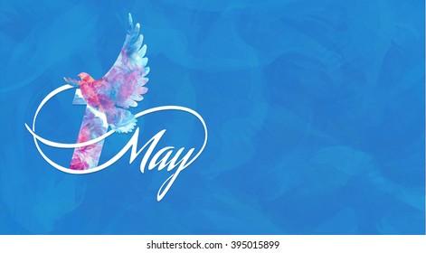 Illustration for 1 may holiday, horizontal
