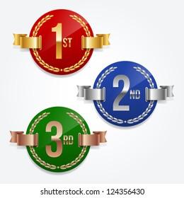 Illustration of 1st; 2nd; 3rd awards emblems