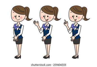 illustration of 3 business women poses