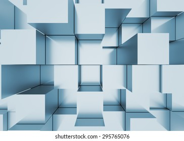 Illustration of 3d abstract mosaic three-dimensional background
