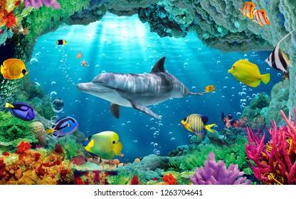 illustration 3d fish