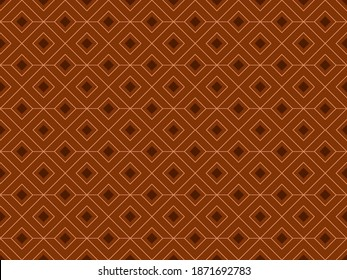 Illustration of a 3d square background image for a tablecloth with a modern brown base color