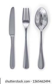 illustration 3d table cutlery