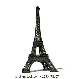 Illustration of a 3d tower on a white background.