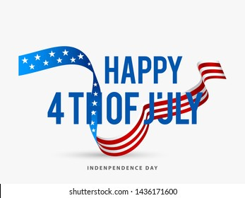 Illustration Of 4 Th July USA Happy Independence Day.