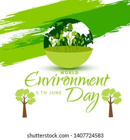 Illustration Of 5 Th June World Environment Day Background.