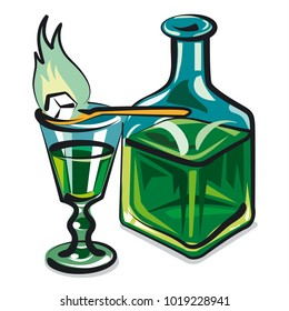 illustration of absinthe