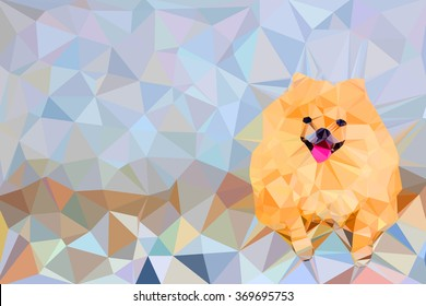 illustration of abstract background for design. Polygonal  dog
