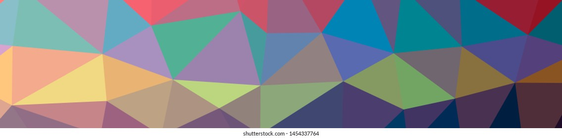 Illustration of abstract Blue, Green And Orange banner low poly background. Beautiful polygon design pattern. Useful for your needs.