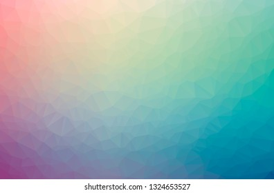 Illustration of abstract Blue, Pink, Red, Yellow horizontal low poly background. Beautiful polygon design pattern.