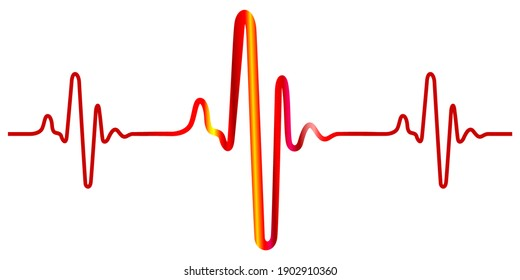 Illustration of the abstract cardiogram icon