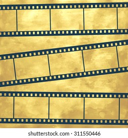 Illustration of the abstract film strips on vintage background
