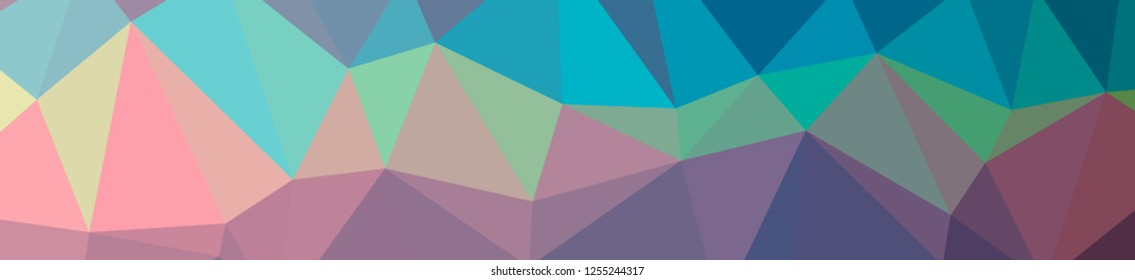 Illustration of abstract low poly blue banner background.