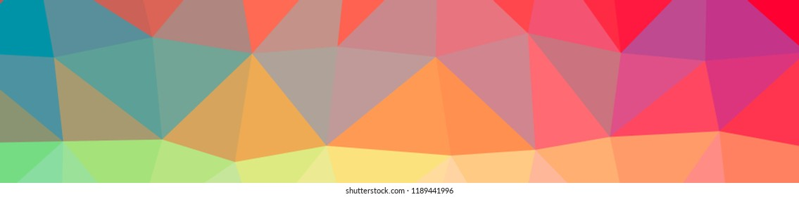 Illustration of abstract low poly red banner background.