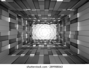 Illustration of abstract mosaic 3d grey background
