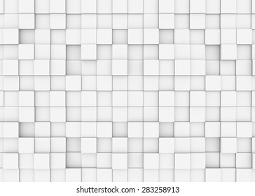 Illustration of abstract mosaic three-dimensional grey background