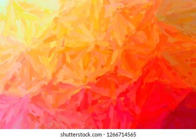 Illustration of abstract Orange Impressionist Impasto Horizontal background.