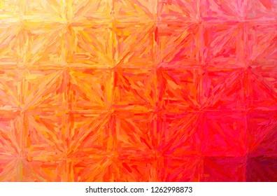 Illustration of abstract Orange Large Color Variation Impasto Horizontal background.