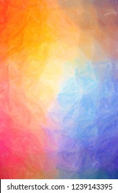 Illustration of abstract Orange, Yellow And Purple Wax Crayon Vertical background.