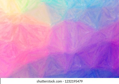 Illustration of abstract Purple And Green Wax Crayon Horizontal background.