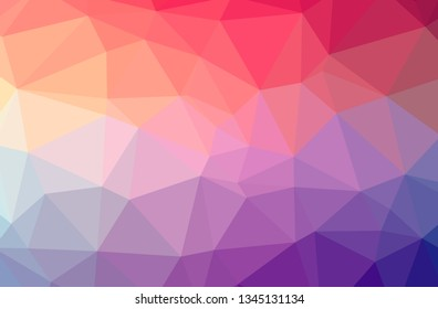 Illustration of abstract Red horizontal low poly background. Beautiful polygon design pattern.