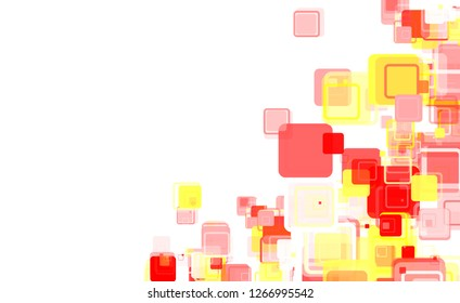Illustration - Abstract squares background red yellow