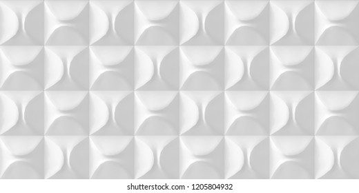 Illustration. Abstract white 3d geometric background with shadow. Architectural structure of rectangles. three-dimensional geometric composition of three-dimensional polygons. 3d panel. background.