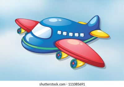 illustration of air plane flying in the sky
