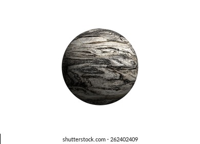 Illustration of a alien planet isolated on a white background.