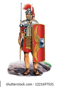 Illustration of an ancient Roman Soldier