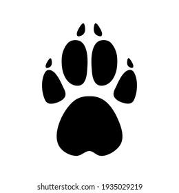 illustration of animals footprints on white background.