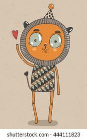 Illustration Animals: Lovely Lion