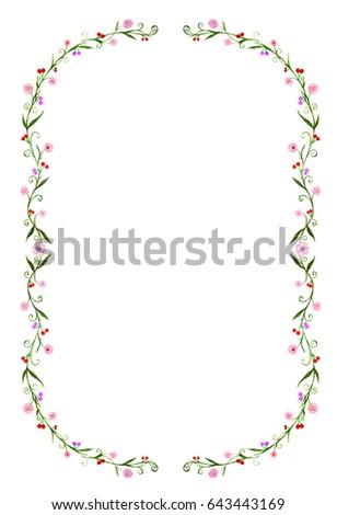 Antique frame drawing Printable Vintage Illustration Of Antique Frame Hand Drawing By Sketch Marker Color The Floral Garden Frame Shutterstock Illustration Antique Frame Hand Drawing By Stock Illustration