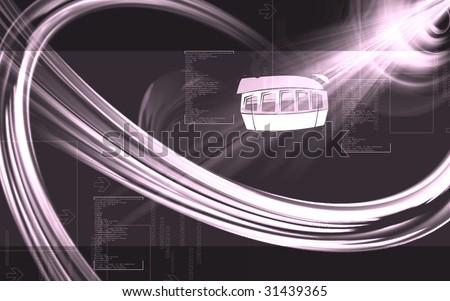 Illustration Arrow Cable Car Stock Illustration 31439365 - Shutterstock