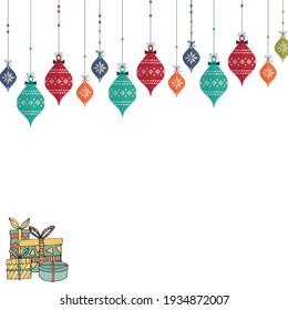 Illustration art banner greeting Card Making for gift
