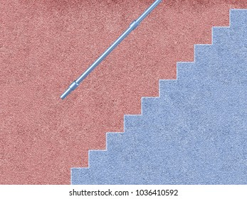 illustration artwork textured outside wall with stairs