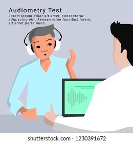 Illustration of Audiometry  Diagnostic test