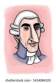 Illustration of Austrian composer Franz Joseph Haydn.