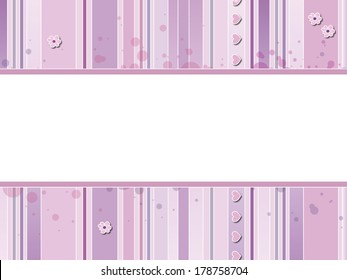 illustration of baby background with flowers and hearts