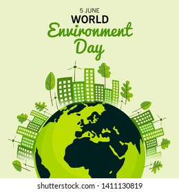 illustration of a Background for World Environment Day.