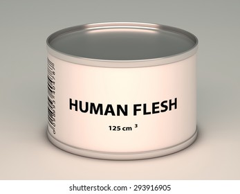 illustration of   bank with   human flesh title
