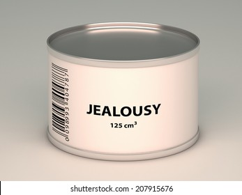 illustration of   bank with jealousy title